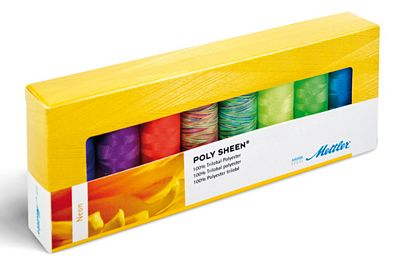 Mettler Thread Polysheen Neon Colors Thread Set