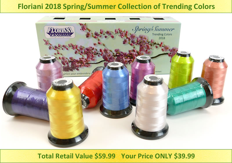 Floriani 2018 Spring/Summer Trending Colors F-TCSS18