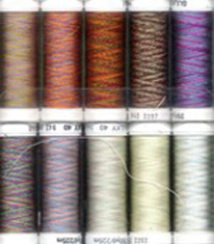 Sulky Top 10 Multi Colors 40 weight Rayon Thread Set 942-06