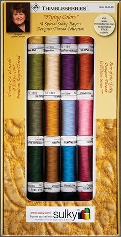 Sulky 20 Spool Thimbleberries Flying Colors 40 weight Rayon Set 942-20