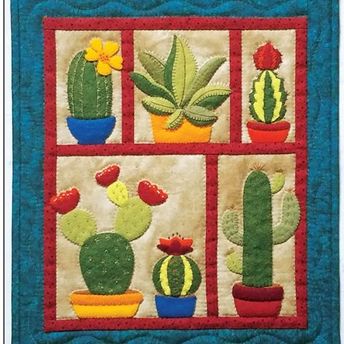 Succulents Wall Quilt Kit from Rachels of Greenfield