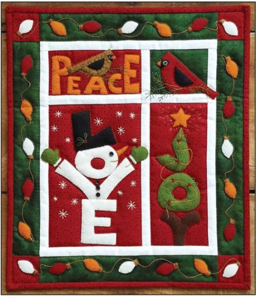 Love Joy Peace Wall Quilt Kit from Rachels of Greenfield
