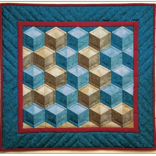 Tumbling Blocks Wall Quilt Kit from Rachels of Greenfield