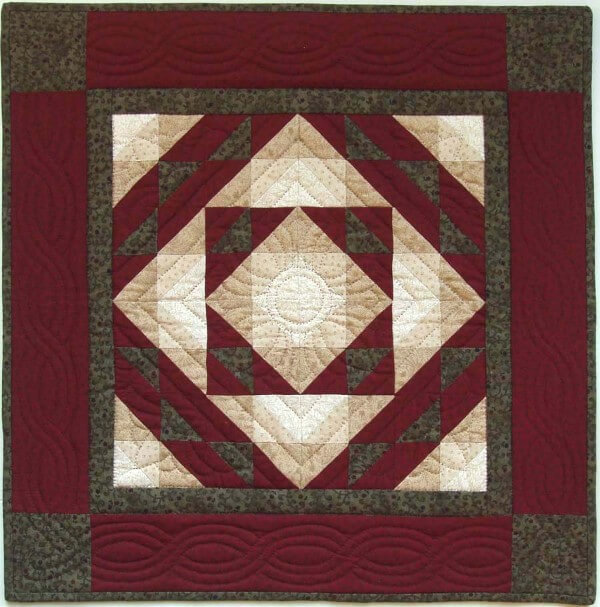 Autumn Star Wall Quilt Kit from Rachels of Greenfield