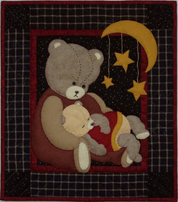 Baby Bear Wall Quilt Kit from Rachels of Greenfield