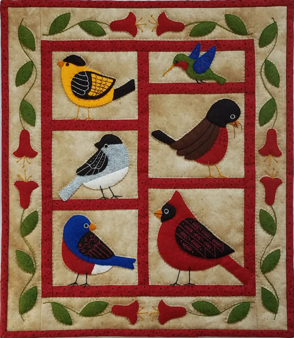 Backyard Birds Wall Quilt Kit from Rachels of Greenfield