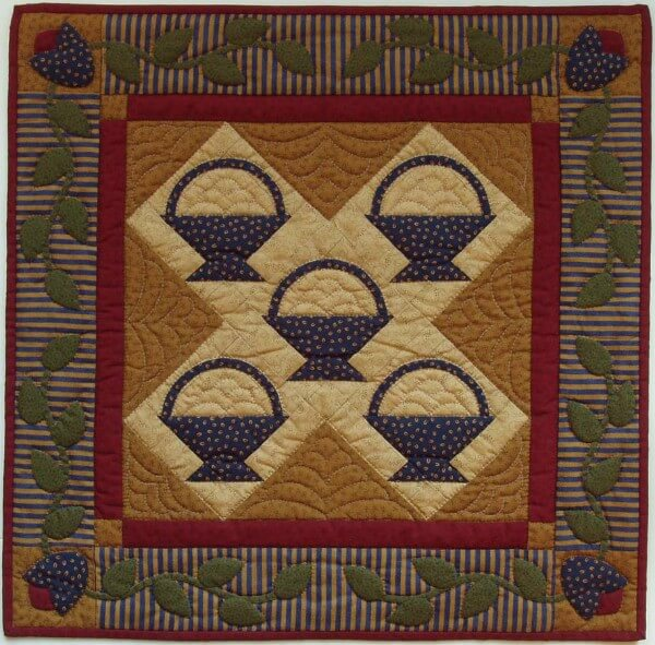 Baskets Wall Quilt Kit from Rachels of Greenfield