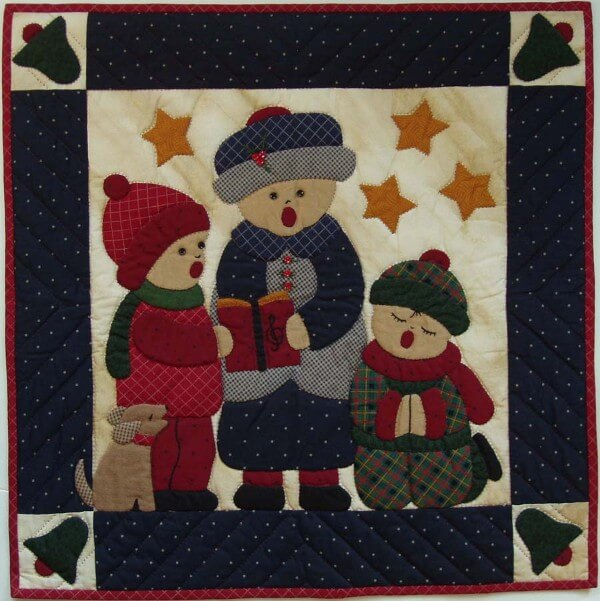 Carolers Wall Quilt Kit from Rachels of Greenfield
