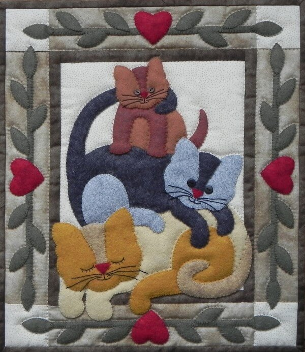Cat Stack Wall Quilt Kit from Rachels of Greenfield