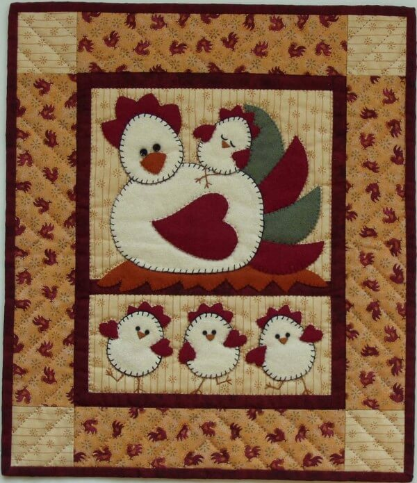 Chicken Coop Wall Quilt Kit from Rachels of Greenfield