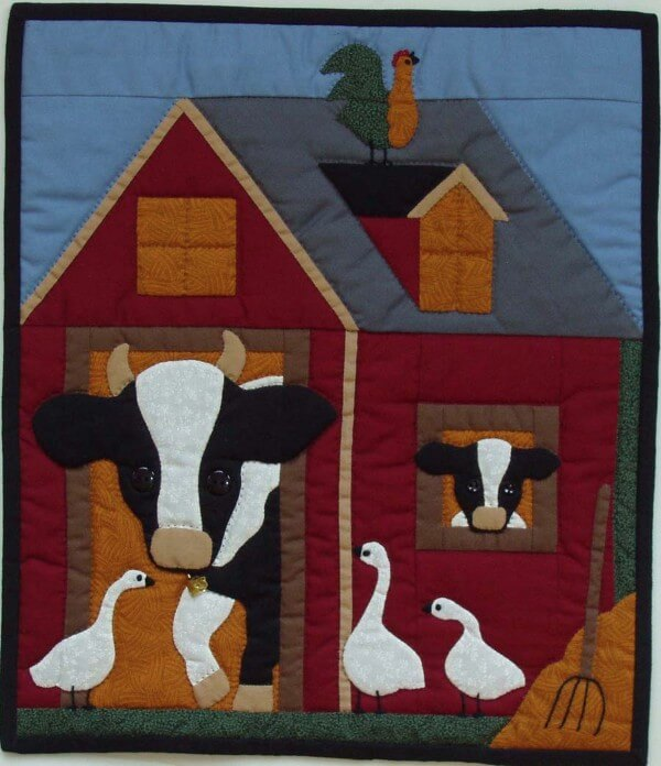 Cows Wall Quilt Kit from Rachels of Greenfield
