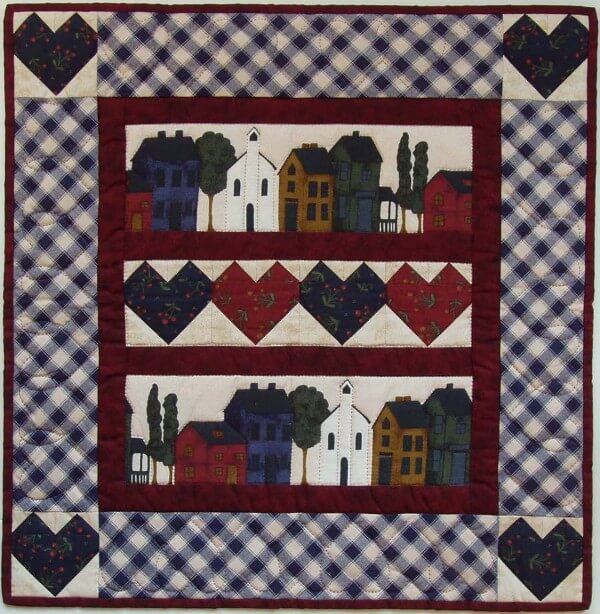 Hearts and Homes Wall Quilt Kit from Rachels of Greenfield