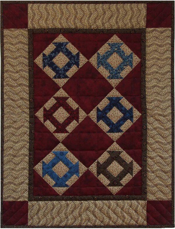 Hole In The Barn Wall Quilt Kit from Rachels of Greenfield