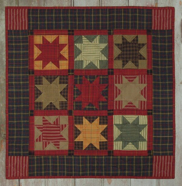 Homespun Stars Wall Quilt Kit from Rachels of Greenfield