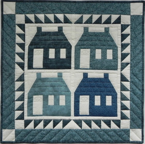 Houses Wall Quilt Kit from Rachels of Greenfield