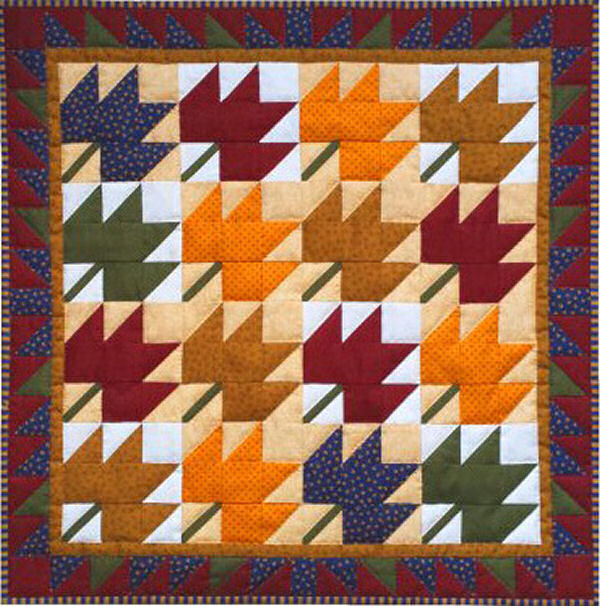 Leaves Wall Quilt Kit from Rachels of Greenfield