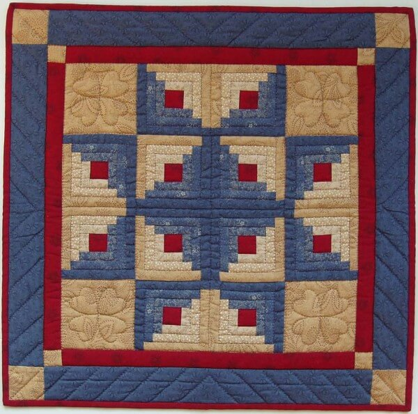 Log Cabin Star Wall Quilt Kit from Rachels of Greenfield