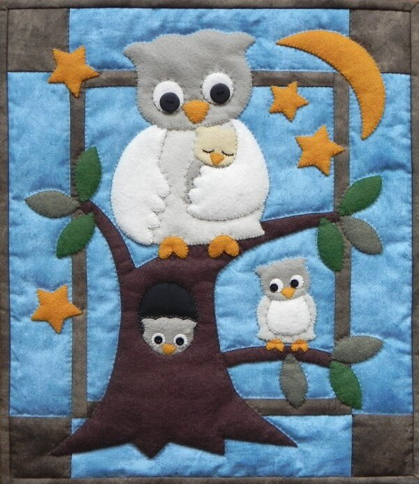 Owl Family Wall Quilt Kit from Rachels of Greenfield