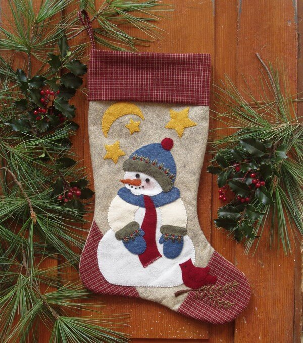 Snowman Stocking Christmas Ornament Kit from Rachels of Greenfield