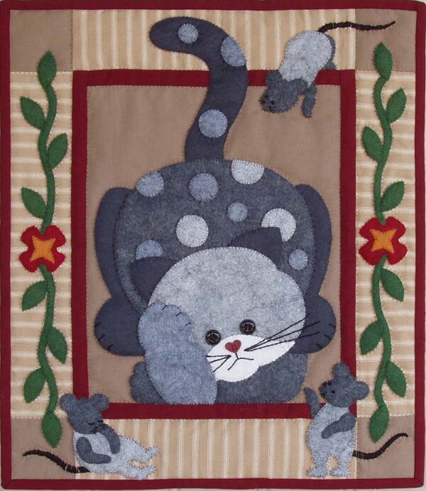 Spotty Cat Wall Quilt Kit from Rachels of Greenfield