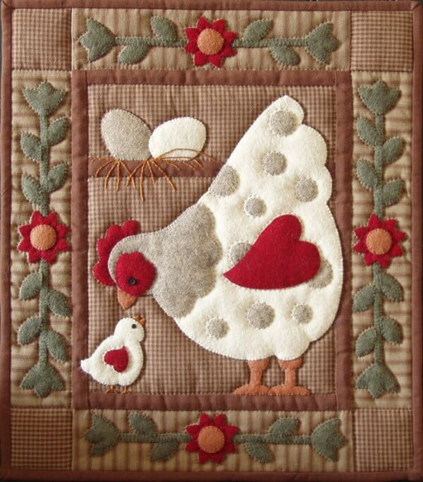 Spotty Hen Wall Quilt Kit from Rachels of Greenfield