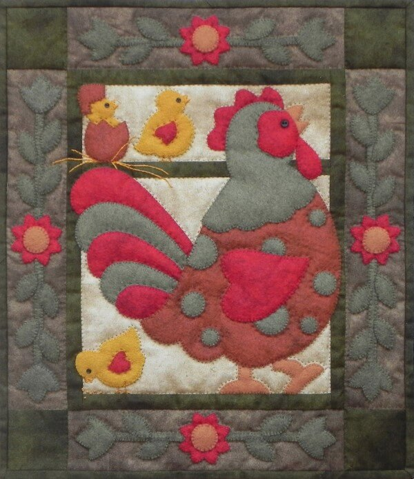 Spotty Rooster Wall Quilt Kit from Rachels of Greenfield