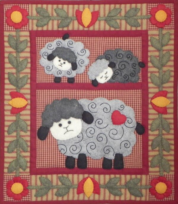 Twin Lambs Wall Quilt Kit from Rachels of Greenfield