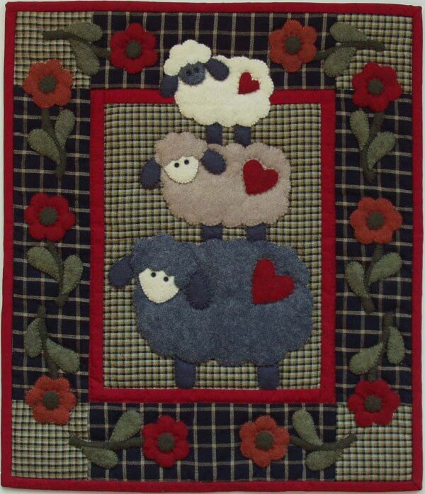 Woolly Sheep Wall Quilt Kit from Rachels of Greenfield