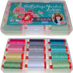 Aurifil Cottage Garden Collection 12 Large 50wt Spools by Amanda Herring AH50CG12bds