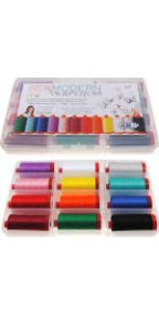 Aurifil Sew Modern Awareness 12 Large 12wt Cotton Spools by Angela Yosten AY12SMA12