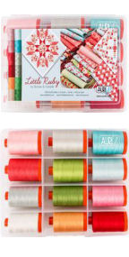 Aurifil Little Ruby by Bonnie and Camille 12 Large Spools BC50LR12