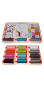 Aurifil Flow Collection 12 Large 50wt Spools by Brigitte Heitland BH50FC12