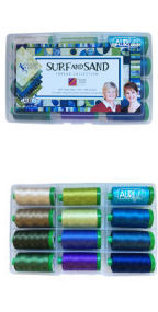 Aurifil Surf & Sand Set By 4th & 6th Design 12 Large Spools BP40SS12
