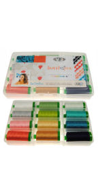 Aurifil Sweet Pea Collection 12 Large 40wt Spools by Sew Caroline CH40SP12