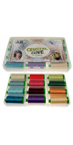 Aurifil Crystal Cove Collection 12 Large 40wt Spools by Engel and Pfeil EP40CC12