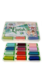 Aurifil Lavish Collection 12 Large 40wt Spools by Fourth and Sixth FSD40LC12