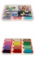 Aurifil New Hoffman Challenge Collection 12 Large 50wt Spools by Hoffman Fabrics HF50NHC12