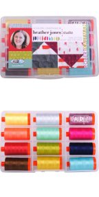 Aurifil Heather Jones Collection 12 Large Spools 50wt by Amy Friend HJ50HJ12