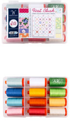 Aurifil First Blush Collection by Ruby Red Designs 12 Large Spools KJ50FB12