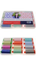 Aurifil Elements Collection By Kate Spain 12 Large 40/50wt Cotton Spools KS5040EC12