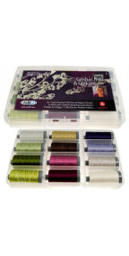 Aurifil Geishas and Ginkgos Collection 12 Large 28wt Spools by Lonni Rossi LR28GG12