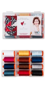 Aurifil Small Wonders Set By Mary Fons 12 Large Spools MF50SW12