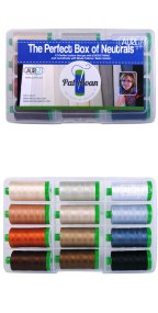 Aurifil Perfect Box Of Neutrals Set By Pat Sloan 12 Large Spools PSNB4012