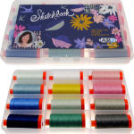 Aurifil Sketch Book Collection 12 Large 50wt Spools by Shanon Holland SH50SK12bds