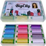 Aurifil Big City Collection 12 Large Pools by Sara Lawson SL40BC12bds