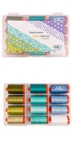 Aurifil Transformation Cool by Sarah Vedeler 12 Large Spools SV50TC12