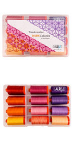 Aurifil Transformation Warm by Sarah Vedeler 12 Large Spools SV50TW12