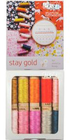 Aurifil Stay Gold Aurifiloss Collection From Aneela Hoey AH30C910