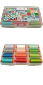 Aurifil Hazel Thread Collection 12 Large 50wt Cotton Spools by Allison Harris AH50HC12