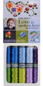 Aurifil Love Is Spoken Here: Winterset Collection From Annie Smith 10 Small Spools AS28LSHW10